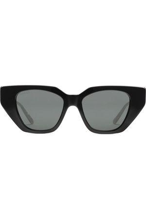Gucci Angular bejewelled sunglasses