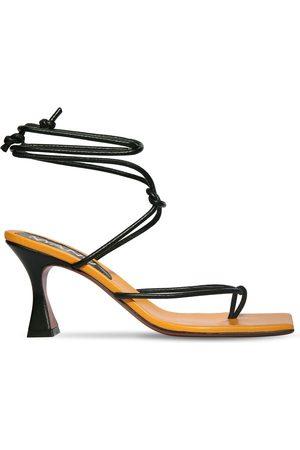 MANU 80mm Freya Leather Lace-up Sandals