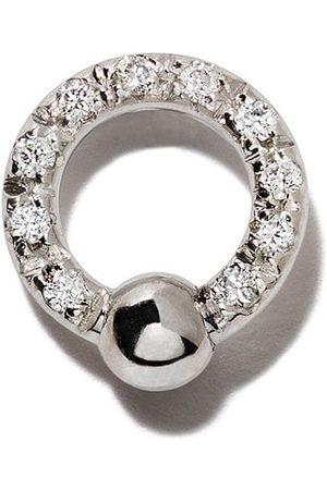 Delfina Delettrez Two in One diamantörhänge i 18K vitguld