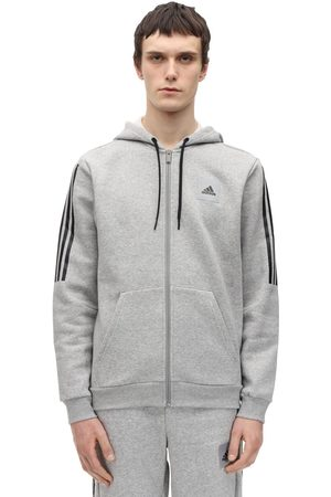 adidas Zip-up Cotton Blend Sweatshirt Hoodie