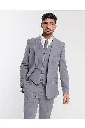 ASOS – Mellangrå kostymjacka med smal passform