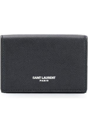 Saint Laurent Kortfodral i strukturerat läder
