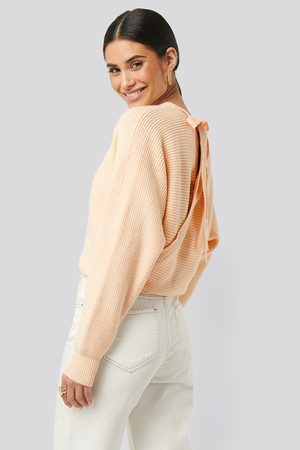 NA-KD Overlap Knitted Tie Detail Sweater