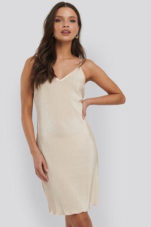 NA-KD Pleated Slip Dress
