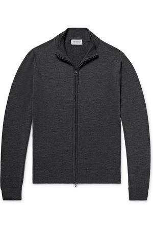 JOHN SMEDLEY Man Cardigans - Claygate Merino Wool Zip-Up Cardigan
