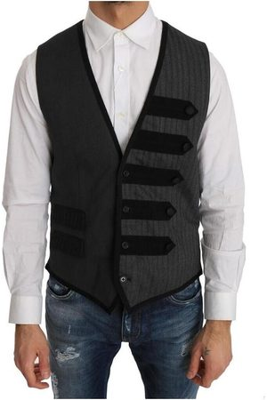 Dolce & Gabbana Wool Patterned Slim Vest