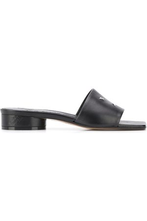 Maison Margiela Contrasting stitching square-toe sandals