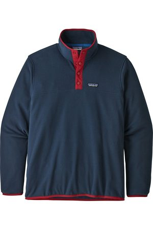 Patagonia Micro D Snap-T Sweater new navy w/classic red