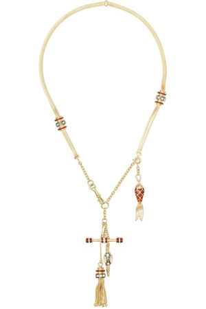 SELIM MOUZANNAR 18kt rose gold diamond ruby Katak necklace