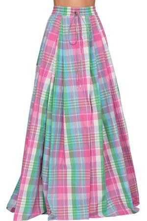Ralph Lauren Checked Cotton Poplin Madra Maxi Skirt