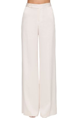 Ralph Lauren High Waist Satin Wide Leg Pants