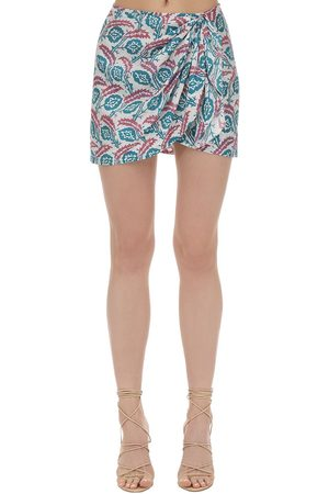 Isabel Marant Renzia Printed Silk Mini Skirt