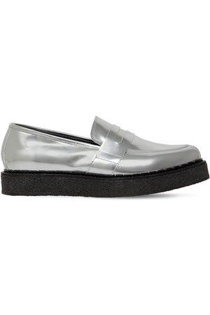 FAQTORY Penny Creeper Metallic Leather Loafers
