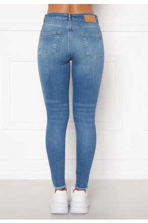 Pieces Delly Cropped Jeans Light blue denim XL