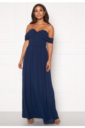 Chi Chi London Laine Maxi Dress Navy XS (UK8)