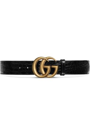Gucci Crocodile belt with Double G buckle