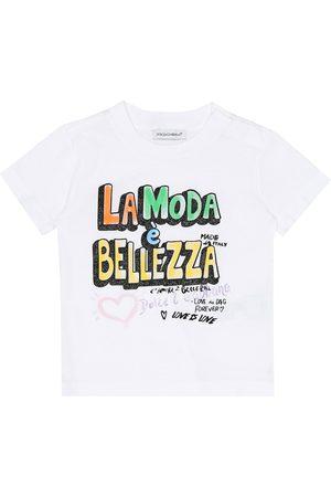 Dolce & Gabbana T-shirts - Baby printed cotton T-shirt