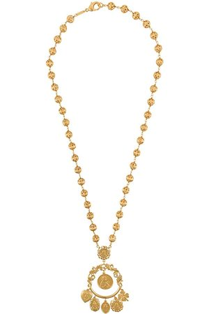 Dolce & Gabbana Votive image drop necklace