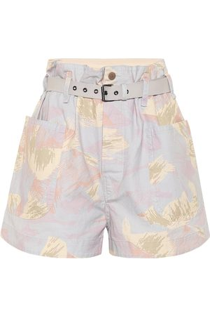Isabel Marant, Étoile Rike high-rise cotton and linen shorts