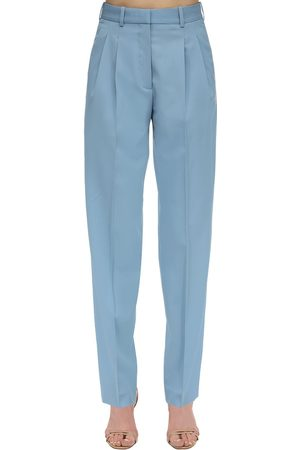 Stella McCartney High Waist Tailored Stretch Wool Pants