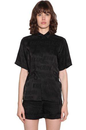 Kirin Typo Fluid Jacquard Strap Shirt