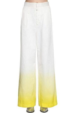 UNRAVEL Kvinna Bootcut - Degradé Cotton Denim Wide Leg Jeans