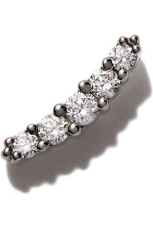 Stone Rakt örhänge i 18 karat svart guld med runda diamanter
