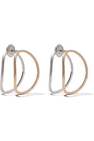 DELFINA DELETTREZ Små earclips-örhängen i 18 karat vitguld och roséguld