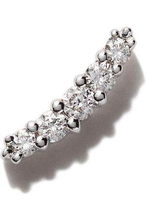 Stone Rakt örhänge i 18 karat vitguld med runda diamanter