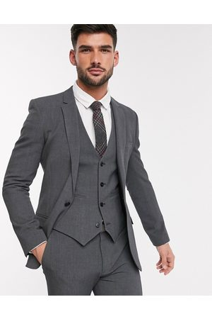 ASOS – Grafitgrå kavaj med fyrvägsstretch och supersmal passform, del av kostym