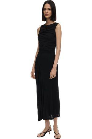 Atlein Draped Crepe Jersey Midi Dress