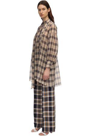 Rokh Cotton Voile Mini Shirt Dress