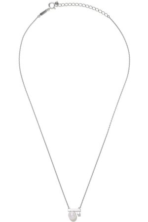 Tasaki 18kt white gold petit Balance Class Collection Line Akoya pearl and diamond pendant necklace
