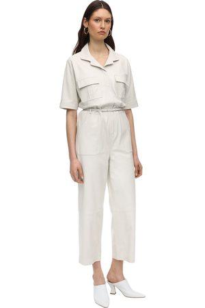 Zeynep Arcay Utility Leather Jumpsuit