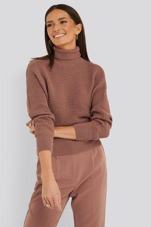 NA-KD Kvinna Stickade tröjor - Folded Knitted Sweater