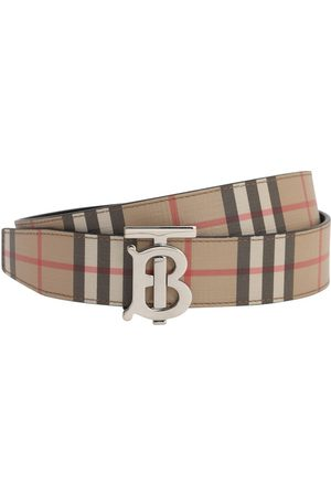 Burberry Man Bälten - 35mm Tb Reversible Check & Leather Belt