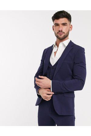 ASOS – Marinblå kavaj med fyrvägsstretch och supersmal passform, del av kostym