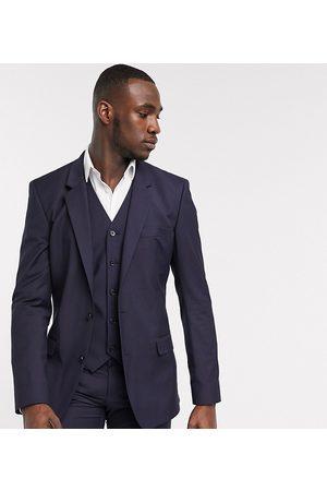 ASOS Man Jackor - – Tall – Marinblå kostymjacka med smal passform