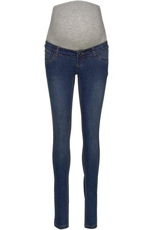 Mama Licious Kvinna Slim - Mllola Slim Blue Jeans Noos A. Slimmade Jeans