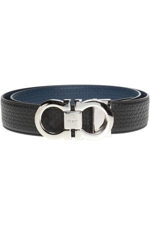 Salvatore Ferragamo Man Bälten - Two-layered belt with Gancini motif