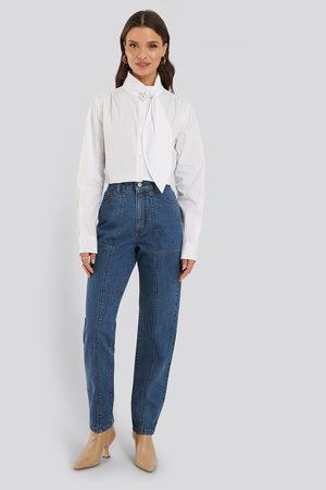 NA-KD Jeans Med Medelhög Midja