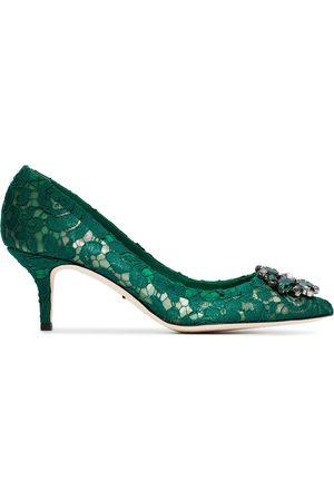 Dolce & Gabbana Bellucci 60 pumps med strass och spets