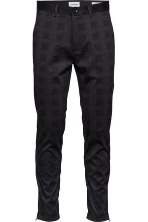 Lindbergh Cropped Pant - Knitted Checked Casual Byxor Vardsgsbyxor