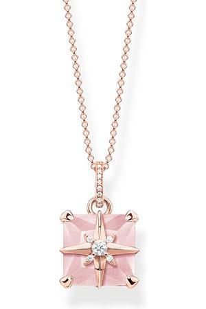 Thomas Sabo Kvinna Halsband - Halsband Rosa sten med stjärna