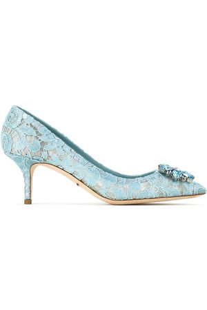 Dolce & Gabbana Kvinna Pumps - Pump in Taormina lace with crystals
