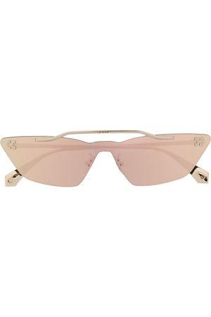 OFF-WHITE Metal Mask solglasögon med geometriska bågar