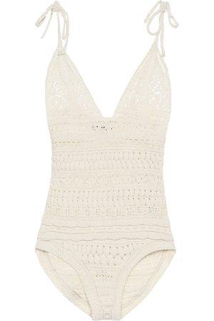 Isabel Marant Fuzz cotton-blend knit bodysuit
