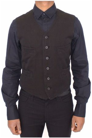 Dolce & Gabbana Flax Cotton Dress Vest Blazer