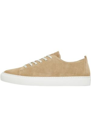 Bianco Man Sneakers - Lädersydda Sneakers Man