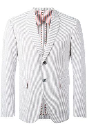 Thom Browne Single Breasted Sport Coat With Half Lining In Seersucker